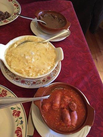 Saint-Oyen, Italien: Polenta concia con carni