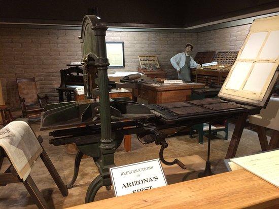Tubac, AZ: Old printing press