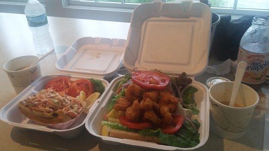 Sag Harbor, NY: Lobster roll and fried shrimp