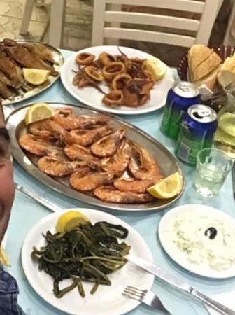 taverna giorgaros my sea food menu