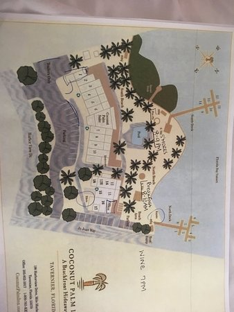Map given of the property upon check in Picture of Coconut Palm