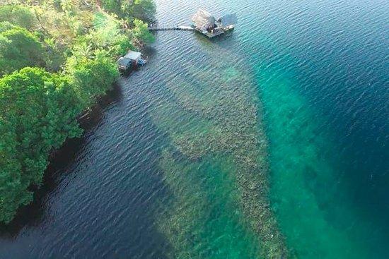 Isla San Cristobal, Panama : follow the reef!