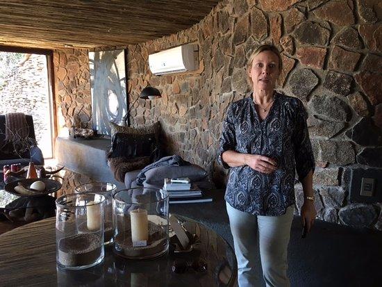 Singita Boulders Lodge: The sitting room