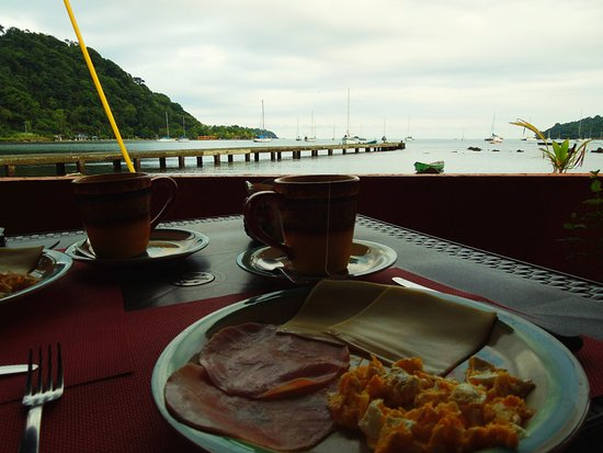 Puerto Lindo, Panama: Perfect breakfast with a view