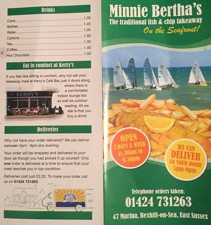 Bexhill-on-Sea, UK: Menu
