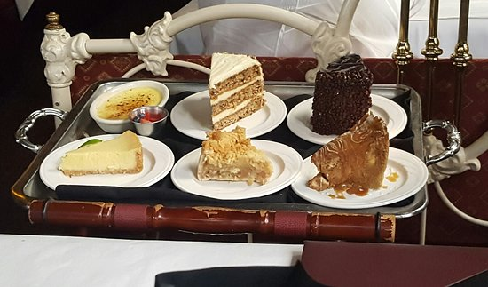 Dessert tray picture of charley s steak house market for Charlie s fish market