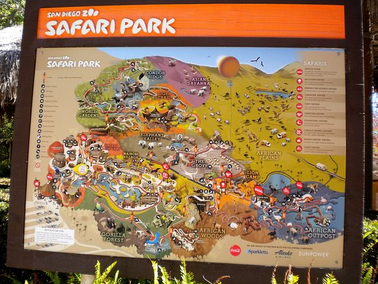 Map Of The Park Picture Of San Diego Zoo Safari Park Escondido - San diego zoo map