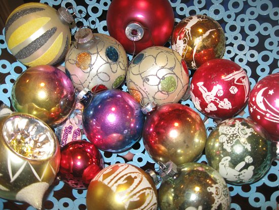 Lubec, ME: Vintage Christmas ornaments (this is just the tip of the iceberg!)