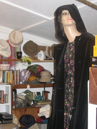 Lubec, ME: Velvet hooded cape, and hats galore!