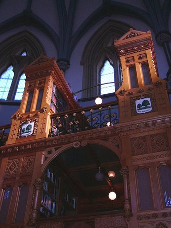 Ottawa - Parliament of Canada - Central Block - Bibliothek