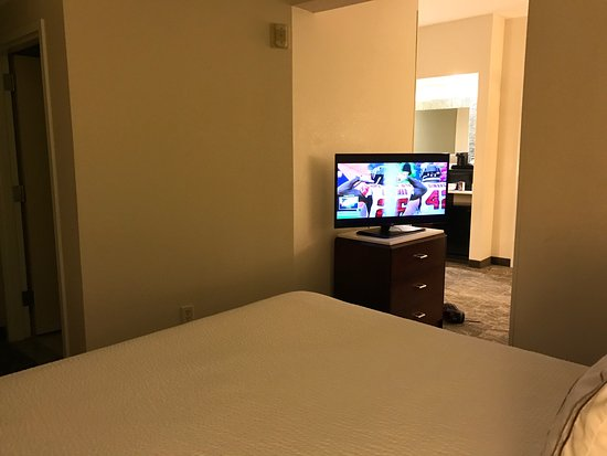 SpringHill Suites Milford: view of TV from bed.