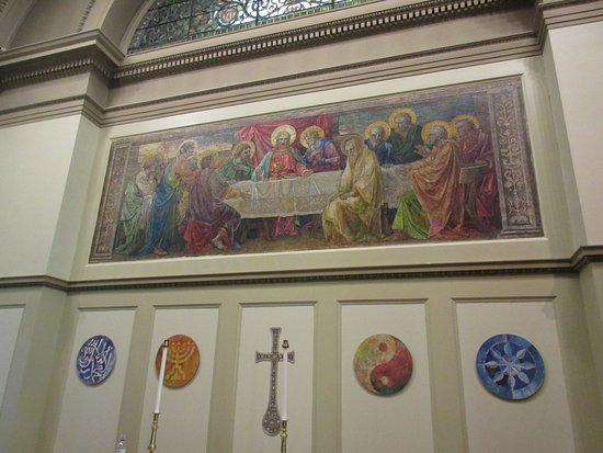 Mount Vernon Cultural District : 1st Unitarian Church of Baltimore Tiffany Mosaic