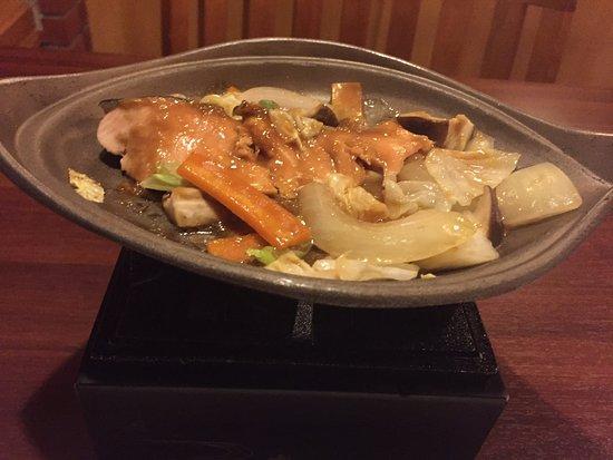 Hokkaido Hotel : 夕食 焼き物(秋鮭チャンチャン焼)