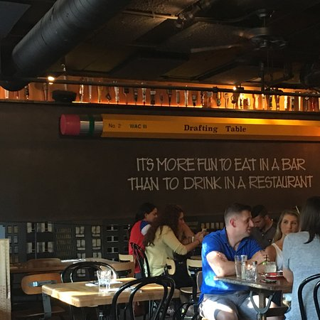 Drafting table american restaurant 1529 14th st nw in for American cuisine restaurants in dc
