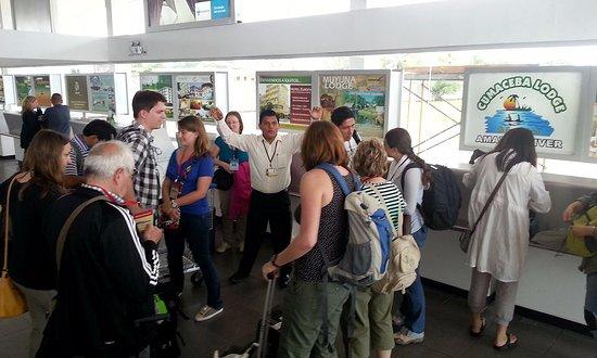 Cumaceba Lodge : Recepcion de pasajeros en Aeropuerto