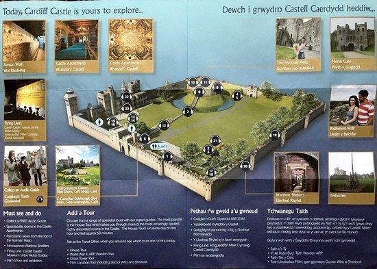 The map Picture of Cardiff Castle Cardiff TripAdvisor