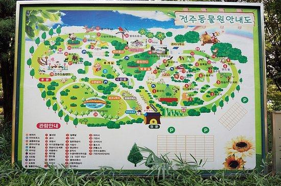 전주동물원 안내도 Picture Of Jeonju Zoo Jeonju TripAdvisor - Jeongju map