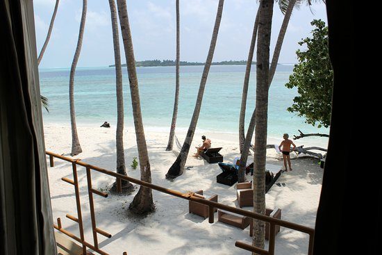 Thulusdhoo Island: vista dalla camera