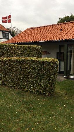 Nysted, Дания: Vårt rum med bra vindskyddad uteplats