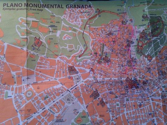 Cartina di Granada Picture of Monasterio Cartuja Granada