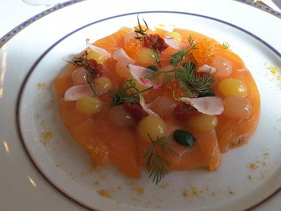 Restaurant Charles Barrier : Saumon façon gravlax