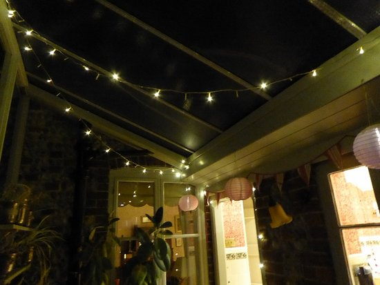 Happisburgh, UK: Evening in the conservatory