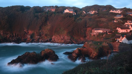 Cadgwith, UK: Daybreak looking down into the village