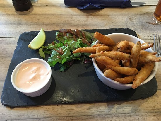 Buckhorn Weston, UK: Whitebait with bloody mary mayo