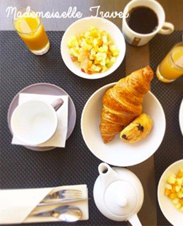Uchaux, Frankrike: petit dejeuner