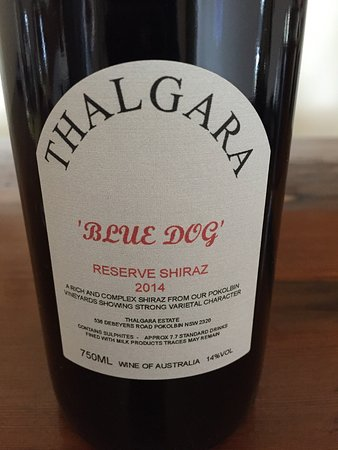 Thalgara Estate: Blue Dog Shiraz - great name for a big red