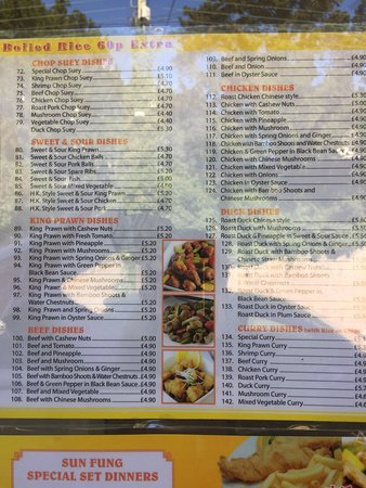 Sun fung fish bar long ashton restaurant reviews phone for Seven fishes menu