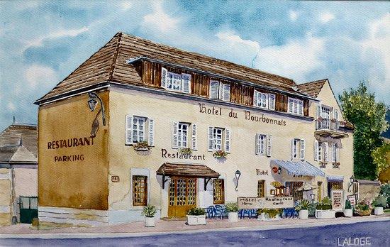 Lapalisse, Francia: Hotel du Bourbonnais - Aquarelle réalisée par Laurent Laloge