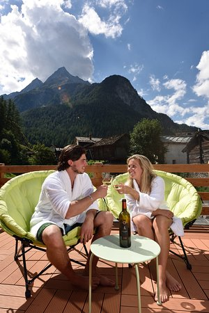 Les Hauderes, Suíça: Terrasse détente