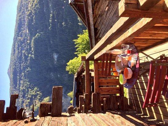 Saint Jean, Schweiz: private Terrasse
