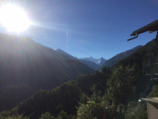 Saint Jean, Schweiz: Aussicht aufs Val d`Annivers