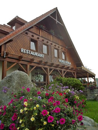 Frymburk, Tsjechië: Hoteleingang