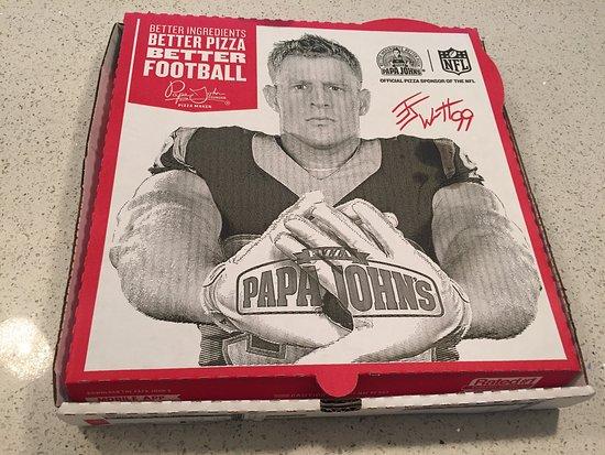 Sunny Isles Beach, FL: Esta é a embalagem! A pizza chega quentinha em casa :)