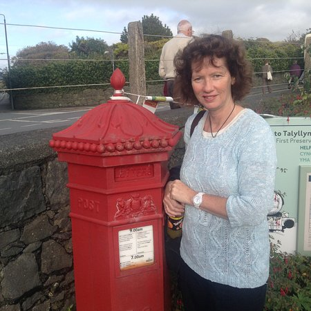 Tywyn, UK: Postbox at the Station,  Special Postmarks available