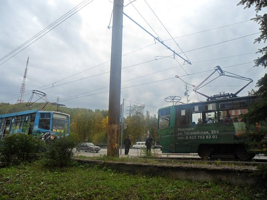 Zlatoust, Russia: ТРАМВАИ ЗЛАТОУСТА