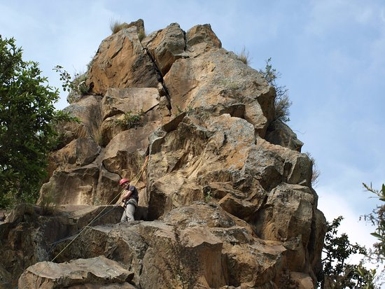 Hell's Gate National Park: Unexpected, but at this rock (Fisher's Tower) we did rock climbing. Price for this was most frie