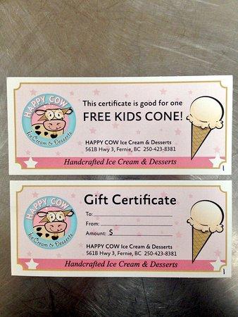 Fernie, Canada: Happy Cow Ice Cream and Desserts