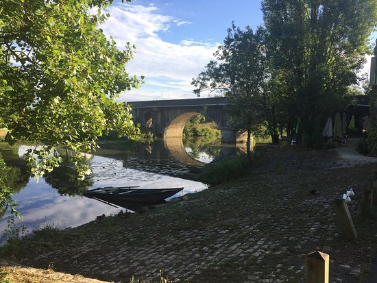 Velluire, France: Early morning view of the river