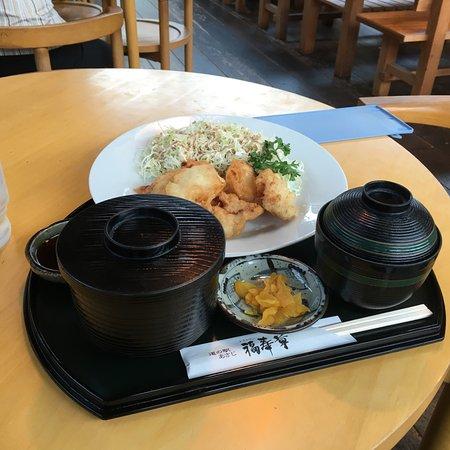 Bungoono, Japan: 鳥の唐揚げ定食
