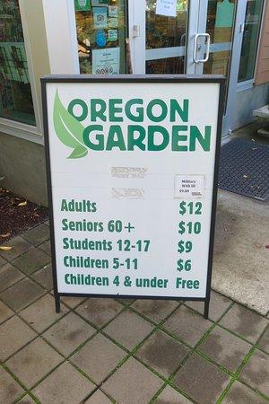 Oregon Garden: Pricing