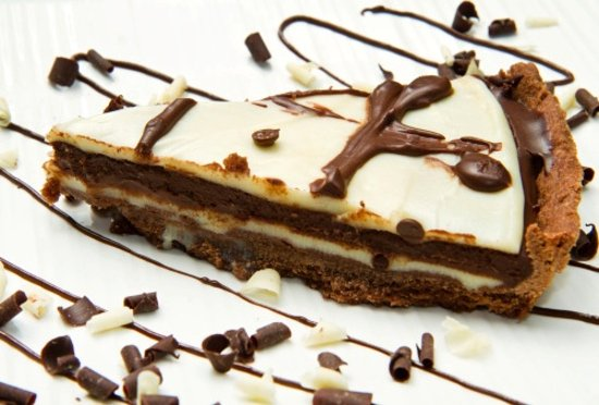 Montespertoli, Itália: cheesecake al cioccolato favoloso !!!