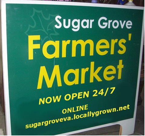 Sugar Grove Farmers Market Sign