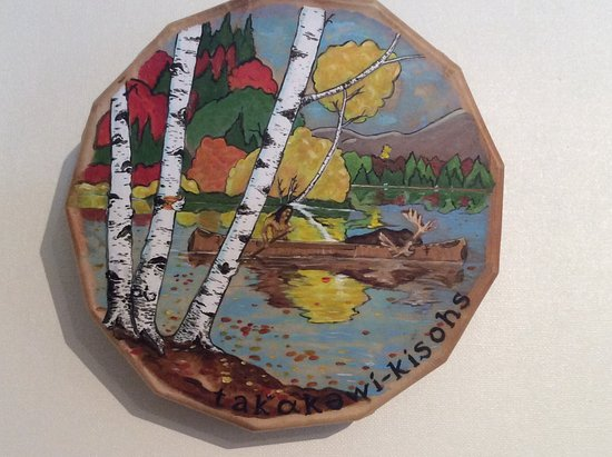 Old Town, ME: Another hand crafted and painted drum currently on display