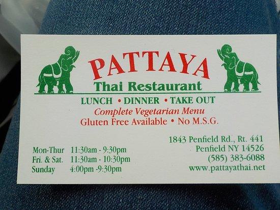 Pattaya thai restaurant business card picture of pattaya thai pattaya thai restaurant business card reheart Gallery