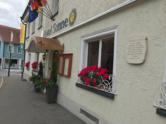 Weingarten, เยอรมนี: Restauranteingang