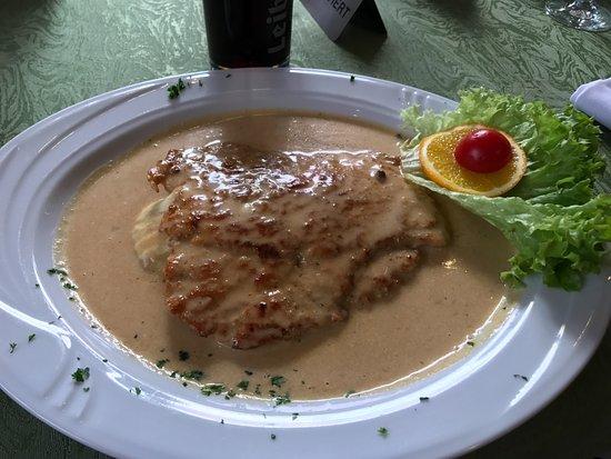 Weingarten, เยอรมนี: Schweineschnitzel a la Chef